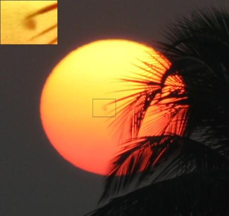 Uma mancha solar captada por uma câmera comum