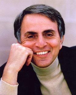 """Carl Sagan tenta nos acalmar: """"Não se desepere leitor, seu fim virá bem antes."""""""