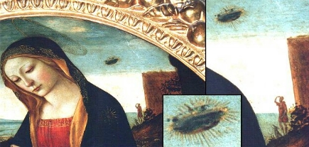 Aqui vocês percebem que uma pessoa e um cachorrinho atento observam o ufo no céu.