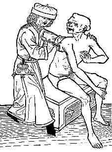 Perfurção de um bubão para aliviar a dor