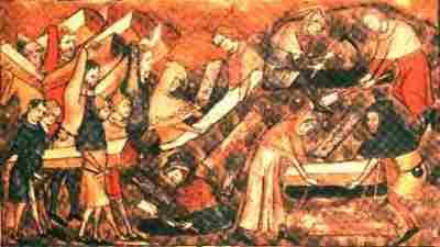 A peste em Tournai, na Bélgica