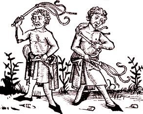 Em meio à histeria, o movimento dos flagelantes ofereciam o sacrifício do próprio corpo a um Deus enfurecido com a humanidade