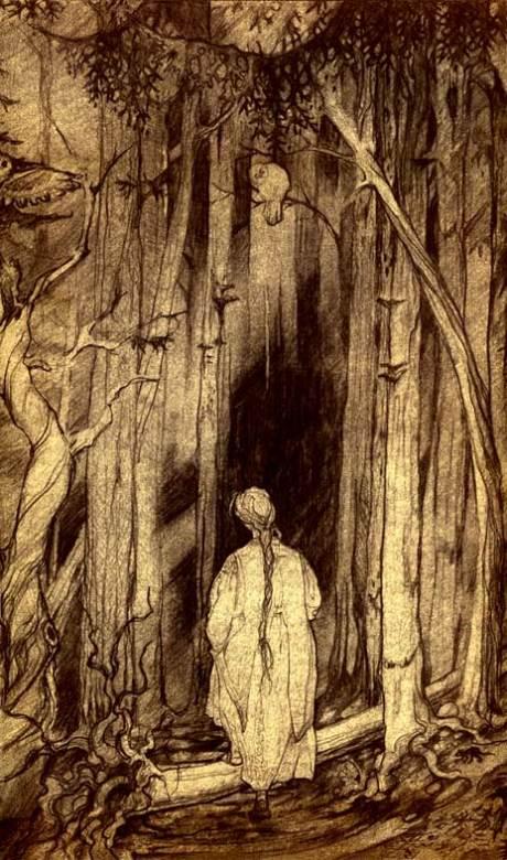 Escuro, denso, povoado por espíritos ancestrais, esse tipo de ambiente foi impregnado pelos narradores tardios por uma aura de malignidade.