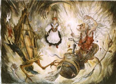 Nos ritos, o neófito era simbolicamente despedaçado, cozinhado e queimado.