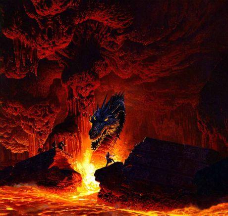 O dragão guarda a fronteira para o outro mundo, onde o herói tenta penetrar