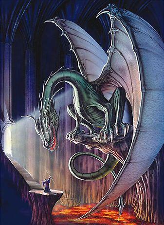 Por vezes, antes do combate há um diálogo entre dragão e herói, frequentemente caracterizado por torca de ofensas.