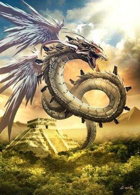 Na América Central pré-colombiana a junção entre ave e réptil não podia ser mais explícita do que a representada na serpente emplumada.