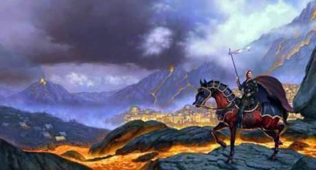 A Idade Média reveste cavalo e cavaleiro com armaduras para o combate.