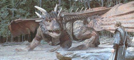 Cena de Coração de Cavaleiro, onde temos o típico dragão aquático.