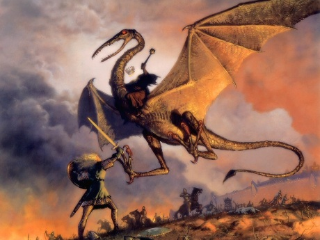 Ao se tornar vilão, o dragão serve ao lado negro das histórias.