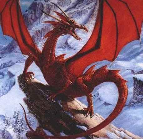 Com as cores do fogo, o dragão montanhês, solar.