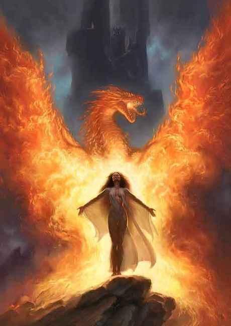 Comumente, o próprio dragão é feito de fogo.
