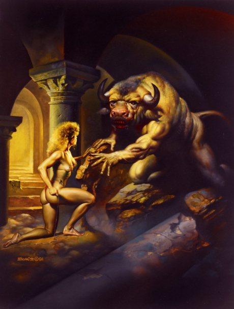 Minotauro, outro ser híbrido que parece ter um gosto especial por carne humana.