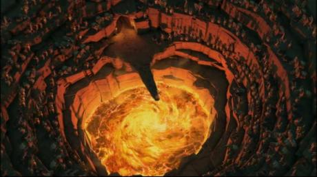 Liderados pelo fanático rei Julian, a comunidade de animais se prepara para lançar à lava ums dos personagens principais.